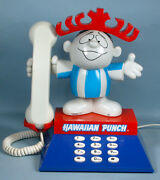 1980s Hawaiian Punch Character Telephone With Punchy Advertising Mascot Working