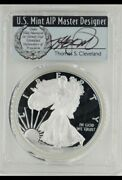 2018w Pcgs 1oz Ase Proof70 Fdoi Signed By Thomas Cleveland Pop 250