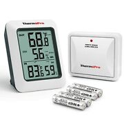 Thermopro Tp60s Digital Hygrometer Indoor Outdoor Thermometer Wireless Temper...