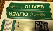 Decal For Spirit Of Oliver Pedal Tractor - New Nos - Scale Models