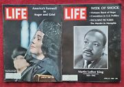 April 12 And 19 1968 Life Magazine Lot Martin Luther King Death Funeral - Vry Good
