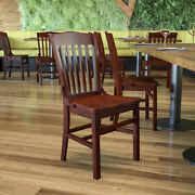 School House Back Wooden Restaurant Dining Chair