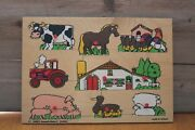 Vintage Farm And Animals Wood Puzzle, Holland