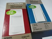 New And Sealed Lot Of 2 Lutron 600w Dimmers / 1 Diva / 1 Skylark Contour White