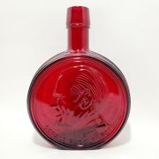 Wheaton Decanter Glass Bottle Ruby Red President Gerald R Ford 1st Edition 1974