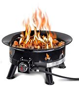 Outland Firebowl 883 Mega Outdoor Propane Gas Fire Pit With Uv And Weather Re...