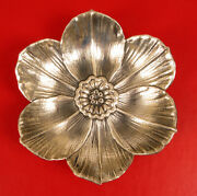 Vintage Gianmaria Buccellati Floral Sterling Silver Candy Dish Bowl Superb