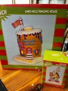 Dept 56 Village Whoville Pancake House + Accessory Pancakes To Go Nib