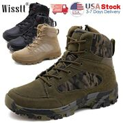 Mens Army Military Boots Waterproof Combat Work Shoes Camping Tactical Swat Size