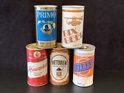 1970s Beer Cans - Primo Bix Billy Metbrew And Hauenstein From Grain Belt And More