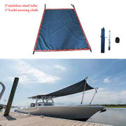 Flat Top Boat Sun Shade Canopy Top Mounts On Tower W/2stainless Steel Tube Kit