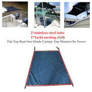 1pcs Flat Top Boat Sun Shade Canopy Top Tower W/1.1m -2m Stainless Steel Tube