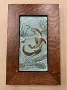 Medicine Bluff Otter Art Tile Arts And Crafts Mission Style Oak Park Frame