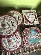 Punch Studio Valentines Boxes Lot Of 5 The Gifted Line Kirshner Dec Arts Hearts