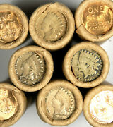 C/n Indian / Bu Wheat Vintage Old Lincoln Wheat Cent Roll Estate