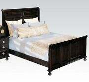 1pc Eastern King Size Espresso Bed Traditional Sleigh Panel Bedroom Furniture
