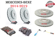 Front And Rear Brake Disc Rotors With Brake Pads And Sensors For 14-19 Mercedes W222