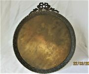 Amazing Old French Circular Photo Frame Louis Xvi Bronze And Brass