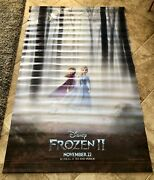 8' X 5' Disney Frozen Ii And Maleficent Double Movie Theater Vinyl Poster Banner