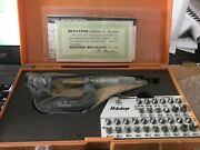 New Unopened Mitutoyo Thread Micrometer Gewindemikrometer 0-25mm With All Anvils