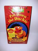 Rare Sesame Street Put Down The Ducky Factory Sealed Vhs Brand New