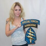 Army Special Forces Ssi Patch - Metal Sign Airborne Green Berets See Video