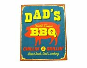 Plaques Signs Nostalgic Set Of 2 Bbq Motorbike Usa Themed Bar Shed Funny Metal