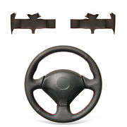 For Honda S2000 Civic Si Acura Rsx Type-s Black Pu Leather Steering Wheel Cover