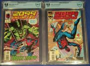 2099 Unlimited 1and 9 Cbcs 9.8 Wp 1st App. And Origin Plus Spiderman Not Cgc