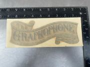 Vintage Edison Standard Phonograph 8 Replacement Decal Banner Style U.s.a.