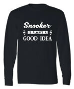 Snooker Game Full Long Sleeve T Shirt Pool Billiards Championship Menand039s Gift Tee
