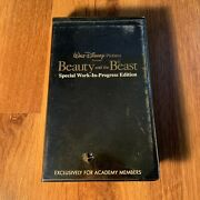 Vintage Beauty And The Beast Special Work-in-progress Edition Vhs Academy Member
