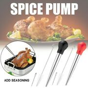 Stainless Steel Silicone Seasoning Barbecue Tool Pump Head With Cleaning Brush