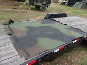 Military Surplus Roof Cover Soft Camo 4 Man Truck M998 Hmmwv -damaged - Army