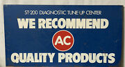 Vintage Ac Quality Product Diagnostic Tune Up Center Painted Metal Sign