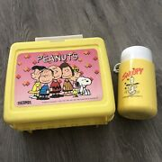 Peanuts Thermos Vintage Lunch Box Snoopy 1956