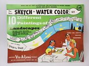 Vintage 1961 Sketch In Water Color Set By Vis-a-lens Made In Usa New Old Stock