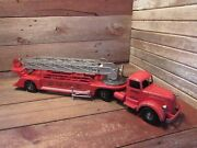 Vintage Mack Smith Miller Fire Truck Engine No.3 California Smitty-toys