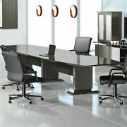 8 - 16and039 Modern Conference Room Table And Chairs Set Boardroom With 10 12 14 Foot