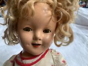 Shirley Temple Composition Doll Ideal 17 In Vintage 1930s Blonde Mohair Wig