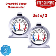 Pack Of 2 Kitchen Dial Oven Thermometer Cooking Temperature Gauge Bbq Oven Grill