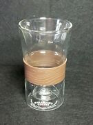 Rare Starbucks Coffee Glass Cup Double Walled Mouth Blown Tumbler 8oz 2010