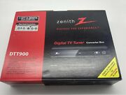 Zenith Dtt900 Digital Tv Tuner Converter Box W/ Cables And Remote New