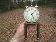 Germany Forest Ville Clock Co. Face Dial Movement Parts Only