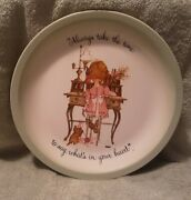 1972 Vintage Holly Hobbie Plate Collectors Edition Andldquoalways Take The Time To...andrdquo