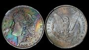 1883-o Silver Dollar Ngc Ms63 Lincoln Highway Hoard Rainbow Toned Color Ms