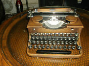 Vintage Rare Brown 1930s Royal Manual Typewriter Serviced And Tested With Woode
