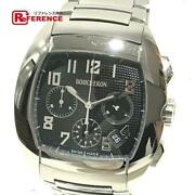 Boucheron Wa006202 Mec Automatic Silver Menand039s Watch Used From Japan V0326