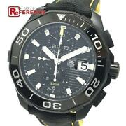 Tag Heuer Cay218a Chronograph Date Aqua Racer 300 Automatic Black Menand039s V0326