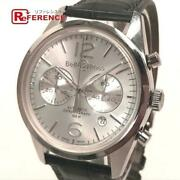 Bell And Ross Br126-94-sp Vintage Officer Date Automatic Menand039s Watch Used V0326
